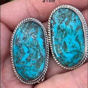 Jewelry - Chimney Butte Sterling Silver Turquoise Earrings